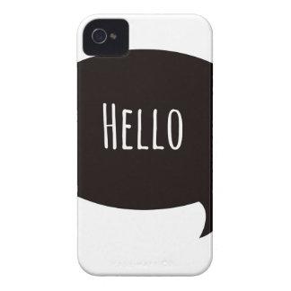 Hello quote in speech bubble iPhone 4 case
