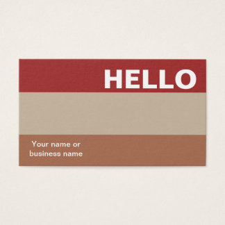 Hello Red Earth Color Palette Minimal Classy Business Card
