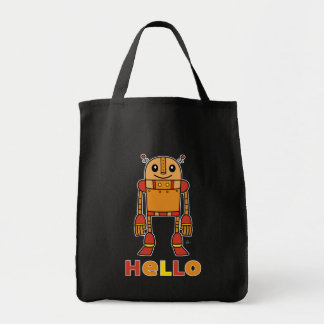 Hello Robot - Grocery Tote Bag