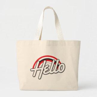 hello! Rockabilly rainbow Jumbo Tote Bag