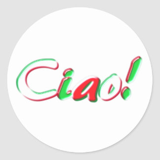 Hello Round Sticker