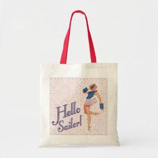 Hello Sailor Pin-up Girl Tote Bag