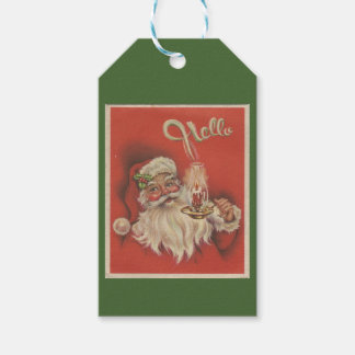 """""""Hello"""" Santa Gift Tag"""