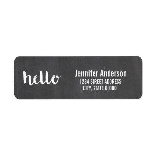 Hello Script Chalkboard | Labels
