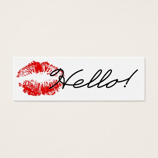 Hello! Sealed with a Kiss Business Card