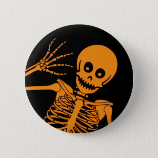 Hello Skeleton! 6 Cm Round Badge