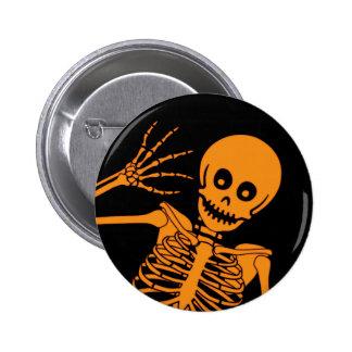 Hello Skeleton! Pinback Button