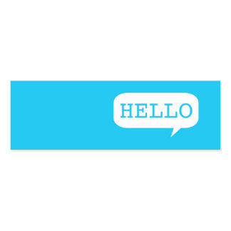 """Hello"" Speech Bubble Pack Of Skinny Business Cards"