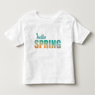 Hello Spring color kids t-shirt. Toddler T-Shirt
