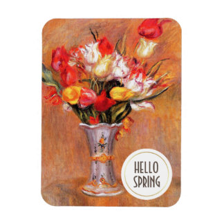 Hello Spring. Fine Art Custom Easter Gift Magnets