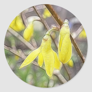 Hello Spring!  Forsythia In Bloom Stickers