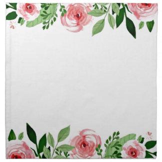 Hello Spring Pink Watercolor Roses Pretty Napkin