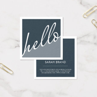 Hello Square Business Card
