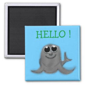 HELLO ! SQUARE MAGNET