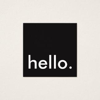 hello square square business card