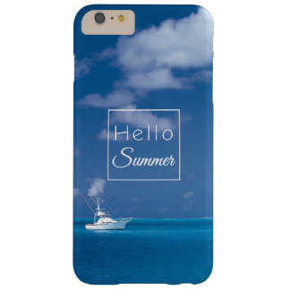 Hello Summer Blue Sky Turquoise Caribbean Sea Barely There iPhone 6 Plus Case