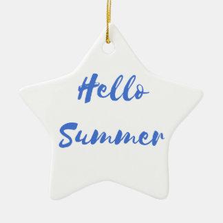 hello summer ceramic star decoration