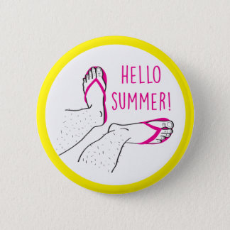 Hello Summer Hairy Legs Badge