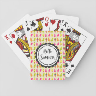 Hello Summer Popsicles and Ice Cream Poker Deck