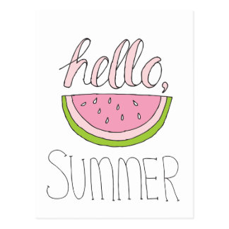 Hello Summer Postcard