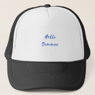 hello summer trucker hat