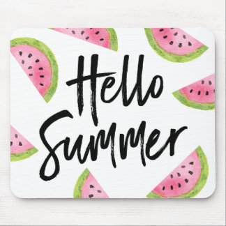 Hello Summer Watermelon Mouse Mat