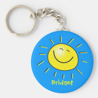 Hello sun basic round button key ring