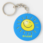 Hello sun key ring