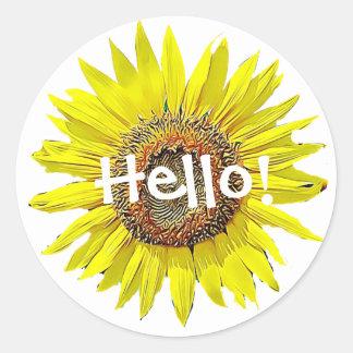 Hello Sunflower Stickers