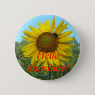 Hello Sunshine! 6 Cm Round Badge