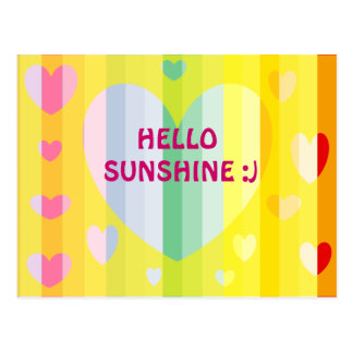 HELLO SUNSHINE CARD POSTCARD