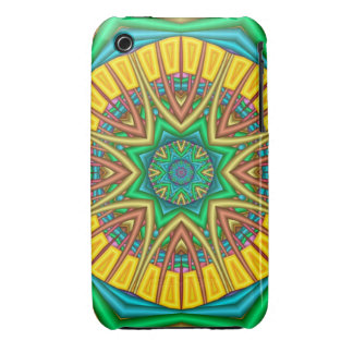 """Hello Sunshine!"", kaleidoscope abstract iPhone 3 Cover"
