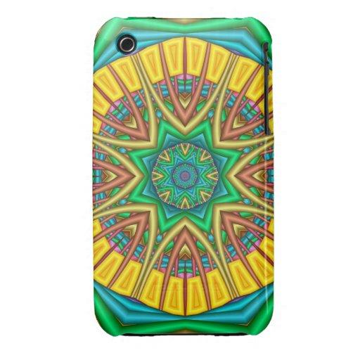 """Hello Sunshine!"", kaleidoscope abstract iPhone 3 Cover"