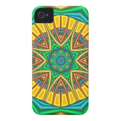 """""""Hello Sunshine!"""", kaleidoscope abstract iPhone 4 Case"""