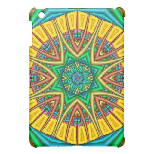 """Hello Sunshine!"", kaleidoscope abstract Cover For The iPad Mini"
