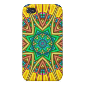 """""""Hello Sunshine!"""", kaleidoscope abstract Cases For iPhone 4"""