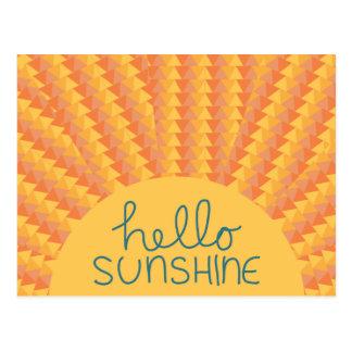 Hello Sunshine - Postard Postcard