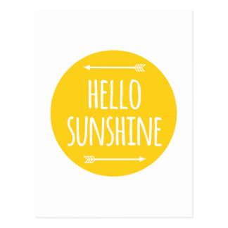 hello sunshine postcard