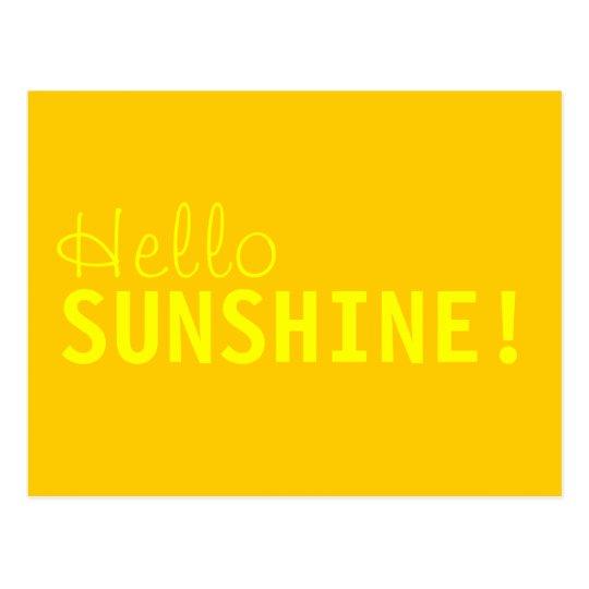 Hello Sunshine Postcard
