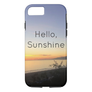 Hello Sunshine typography phone iPhone 7 iPhone 8/7 Case