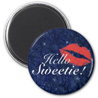 Hello Sweetie 6 Cm Round Magnet