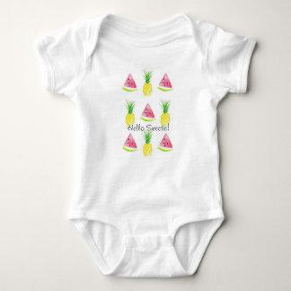 Hello Sweetie Watermelon and Pineapple Body Suit Baby Bodysuit