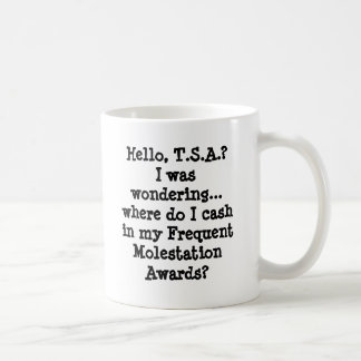Hello, T.S.A.?I was wondering... where do I cas... Basic White Mug