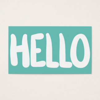 Hello Teal Bright Business Card