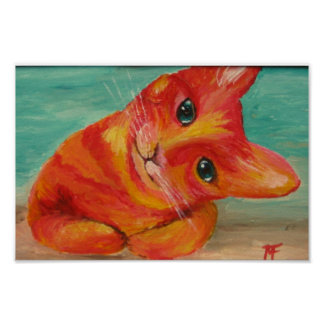 Hello There - Funny Cat painting Poster