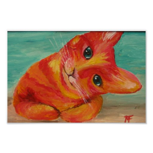 Hello There - Funny Cat painting Posters