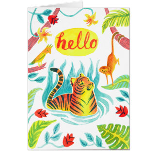 hello tiger card