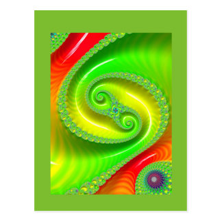 Hello To You. Cheery Green Postcard