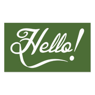 Hello -  Tree Top Pack Of Standard Business Cards