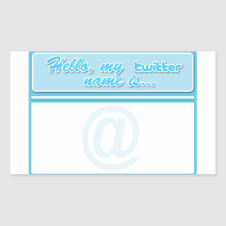 Hello... twitter name tag